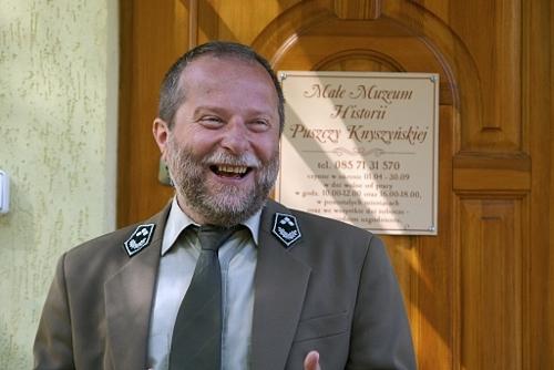 Krzysztof Łaziuk z Nadleśnictwa Supraśl - opiekun Muzeum